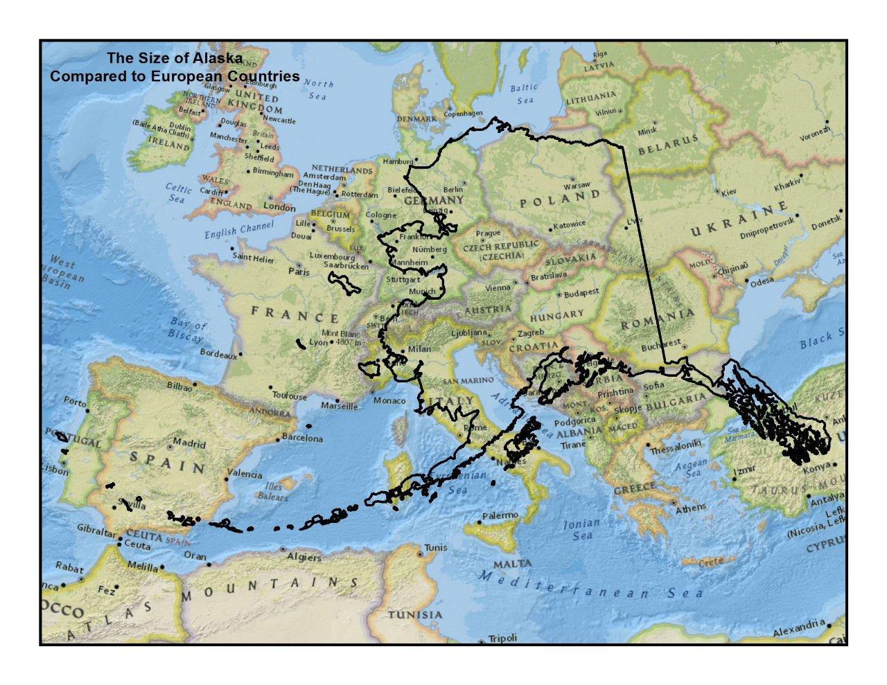 Mail Bag What Do You Think The Biggest Misconception Of The - Us map alaska real size